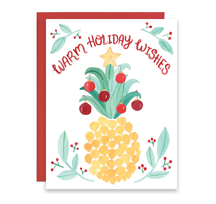 Holiday Pineapple Card