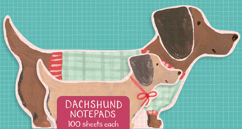 Stacked Dachshund Notepads for Anthropologie