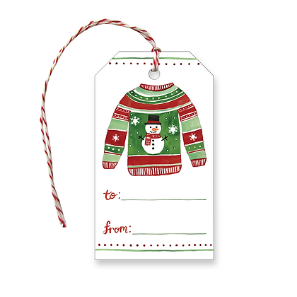 Holiday Sweater Gift Tags