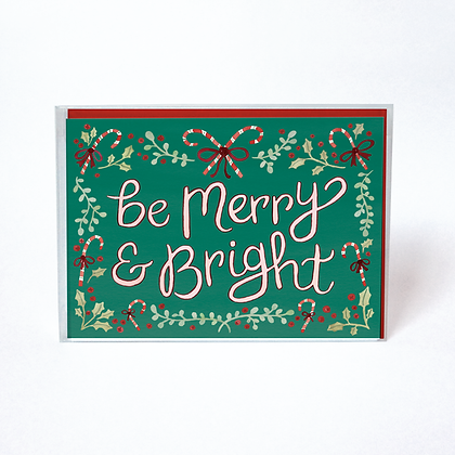 Candy Cane Merry & Bright Boxed Holiday Cards