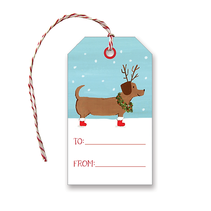 Holiday Dachshund Gift Tags