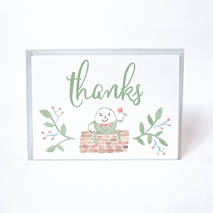 Humtpy Dumpty Boxed Thank You Cards