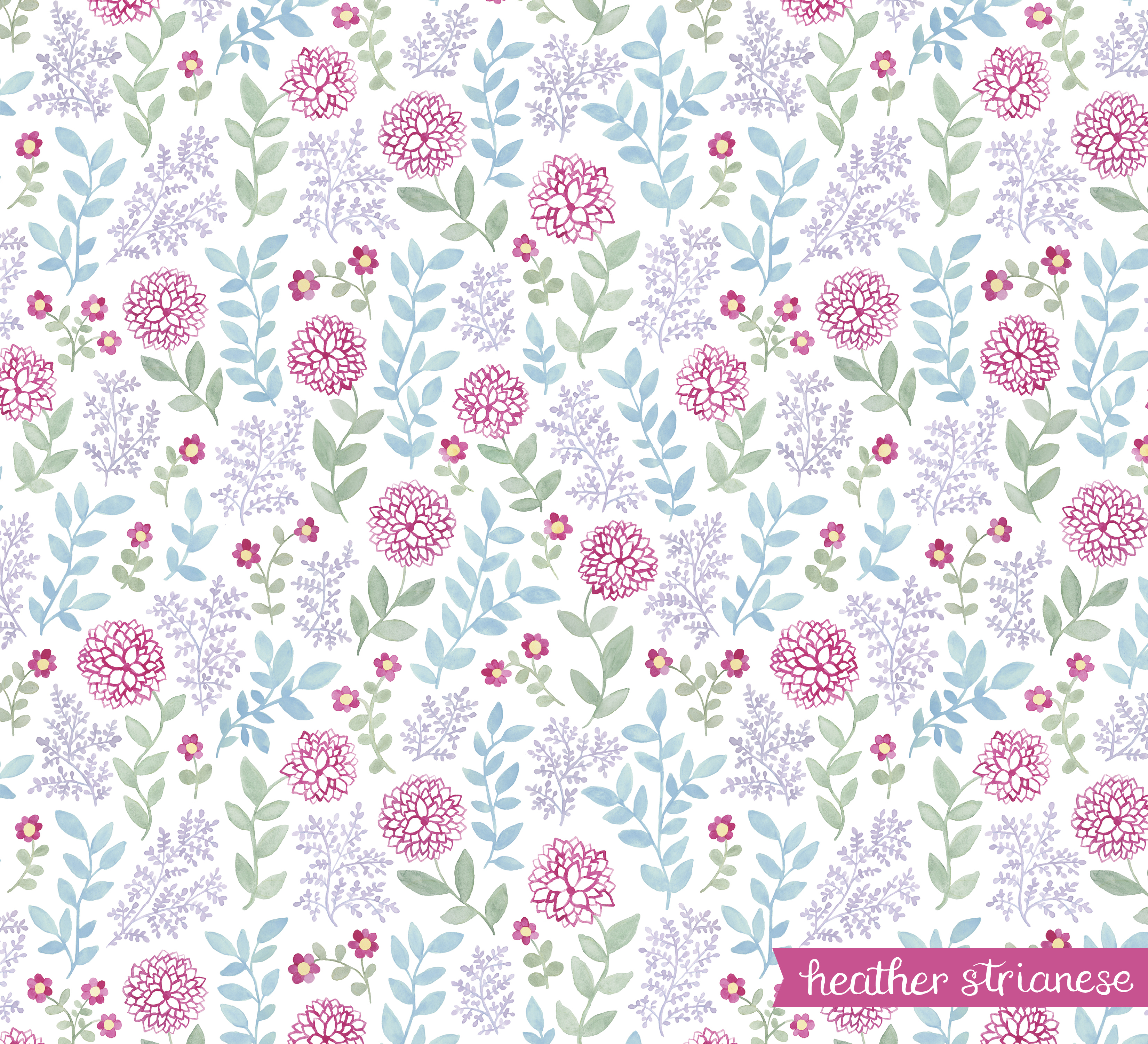 Dancing Dahlias Pattern