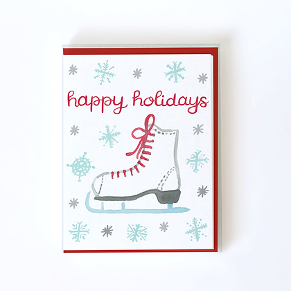 Ice Skate Boxed Holiday Cards