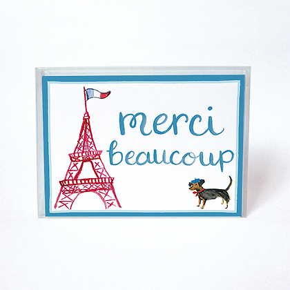 Eiffel Tower Merci Beaucoup Boxed Cards