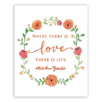 Love Quote by Gandhi Art Print