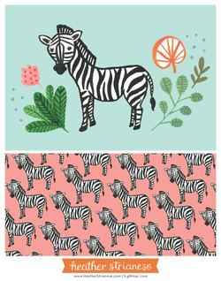 Wild Jungle Zebra