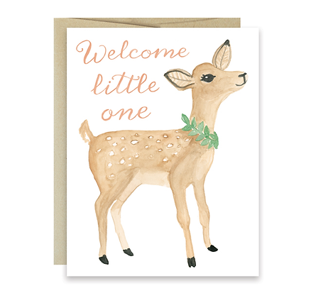 Fawn Welcome Little One Card