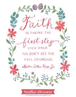 MLK Jr Faith Quote