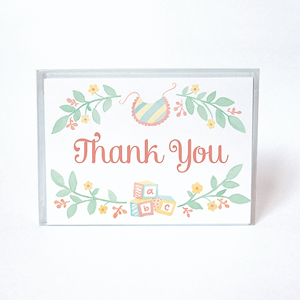 Baby Blocks Boxed Thank You Cards