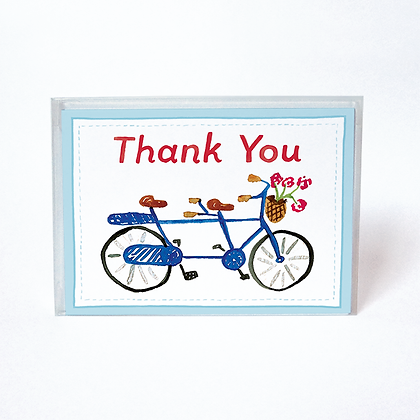 Bicycle Built for Two Boxed Thank You Cards