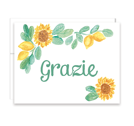 Sunflower Lemon Grazie Card