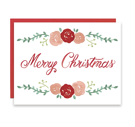 Merry Christmas Roses Card