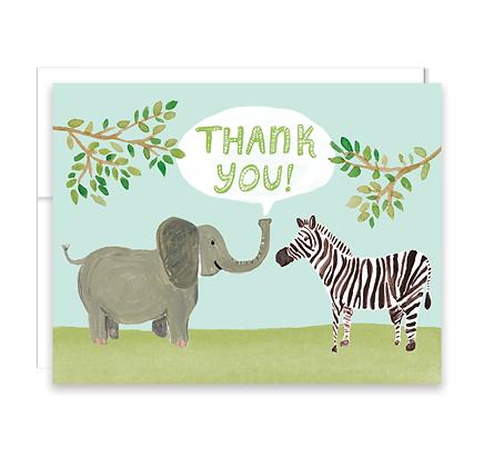 Safari Thank You Card