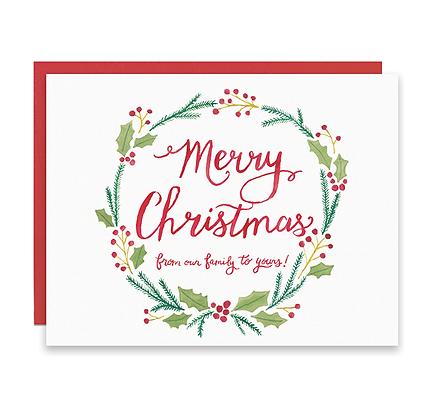 Christmas Wreath Holiday Card
