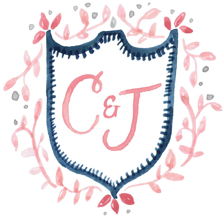 Monogram Floral Crest