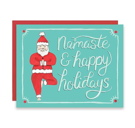 Santa Namaste Holiday Cards