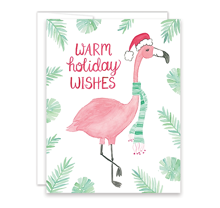 Holiday Flamingo Card