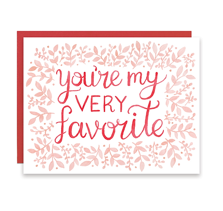You're My Very Favorite Card