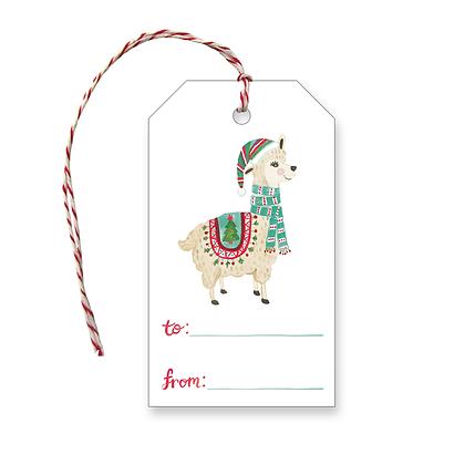 Holiday Llama Gift Tags