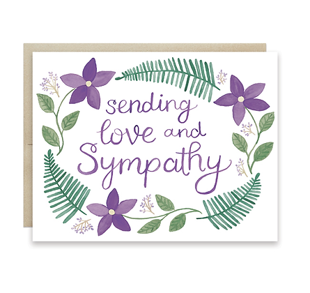 Floral Love and Sympathy Card
