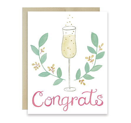 Champagne Congrats Card