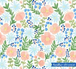 Poppies & Daisies Pattern