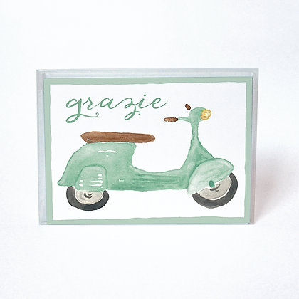 Vespa Grazie Boxed Thank You Cards