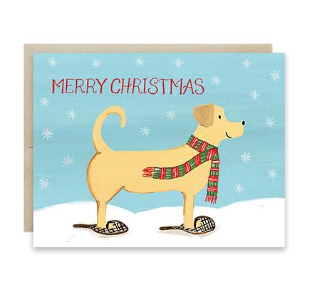 Christmas Lab Card