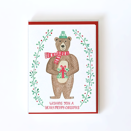 Beary Merry Christmas Boxed Holiday Cards