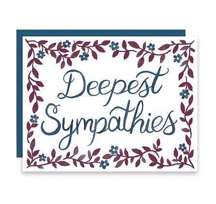 Deepest Sympathies Floral Card
