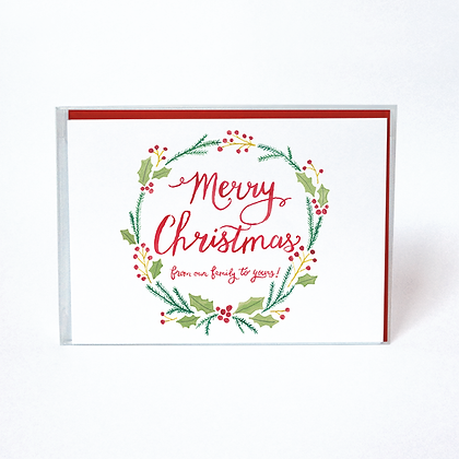 Christmas Wreath Boxed Holiday Cards