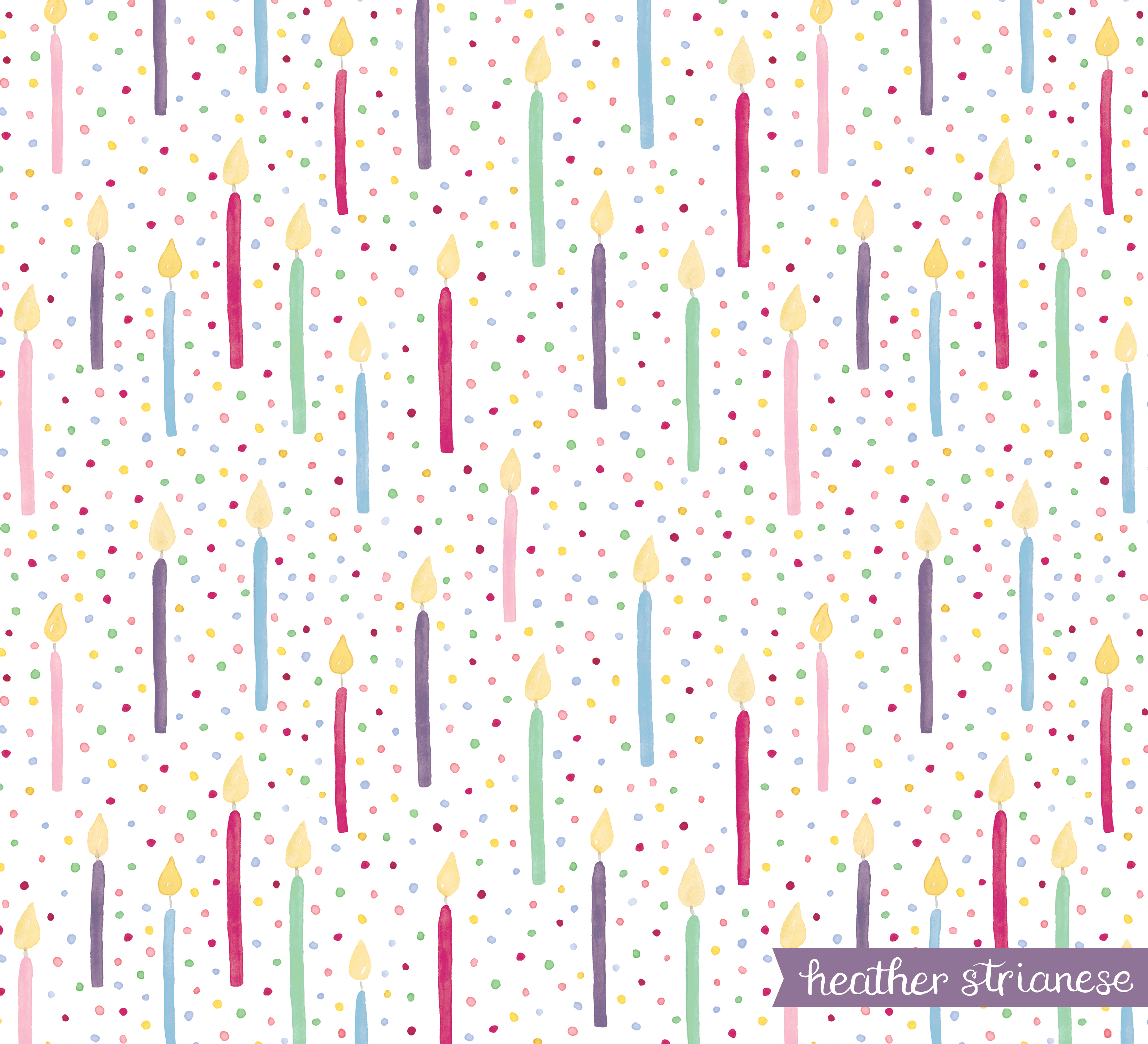 Birthday Candle Confetti Art