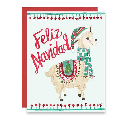 Holiday Llama Card