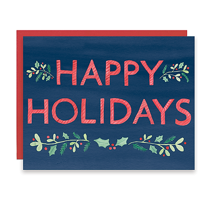 Graphic Happy Holidays Card