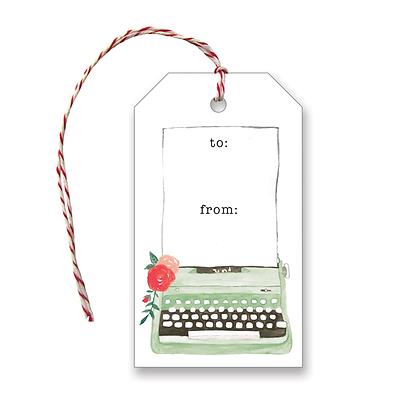 Typewriter Gift Tags