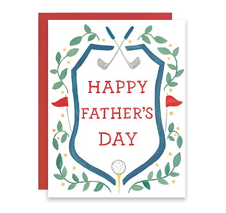 Father's Day Golf Crest Card