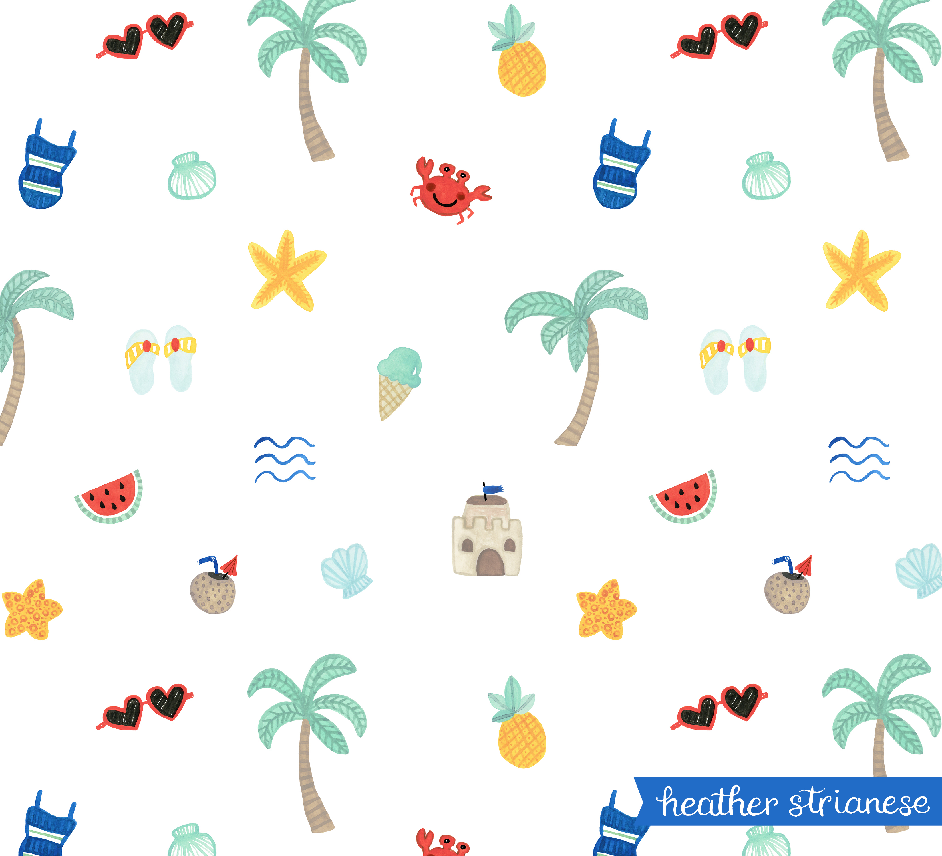 Fun at the Beach Pattern