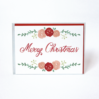 Merry Christmas Roses Boxed Cards