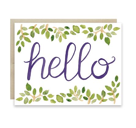 Hello Leaves Card