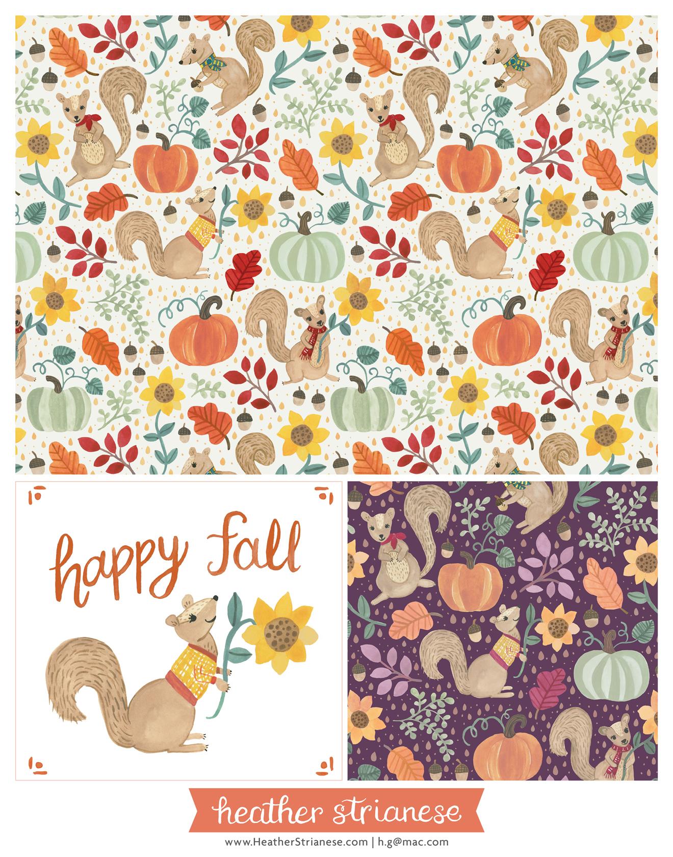 Autumn Squirrels Pattern