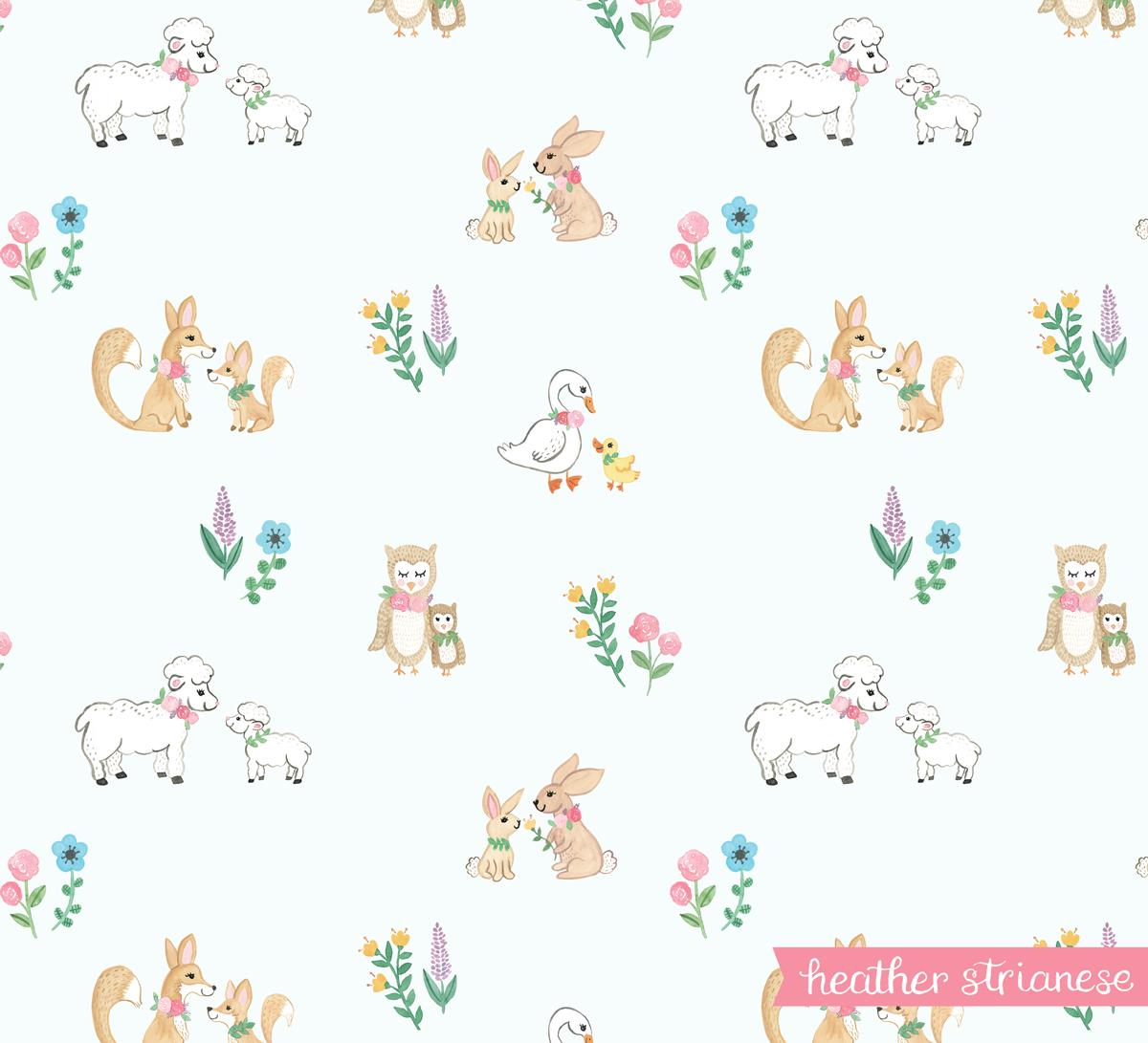 Spring Animal Pattern