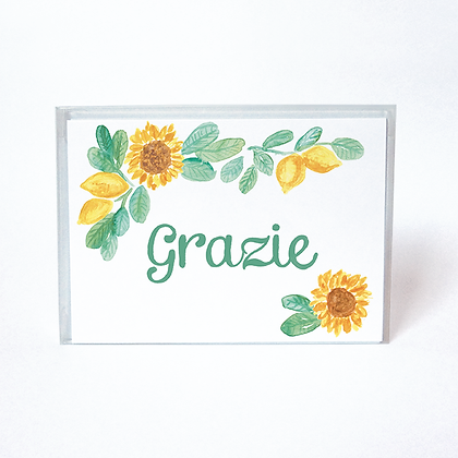 Sunflower Lemon Grazie Boxed Thank You Cards