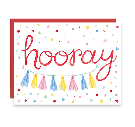 Hooray Confetti Card