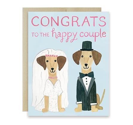 Dachshund Wedding Card