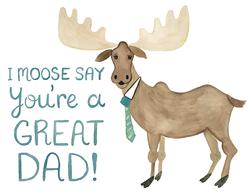 Moose Wearing Tie