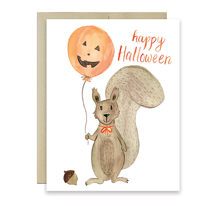 Halloween Squirrel Card