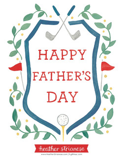 Golf Father's Day Crest