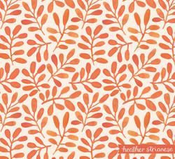 Orange Leaf Pattern