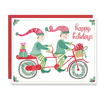 Biking Elves Holiday Card
